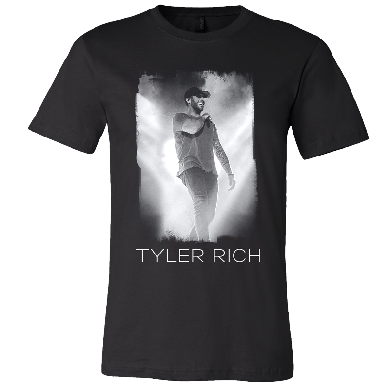 Tyler Rich Black Heather Photo Tee